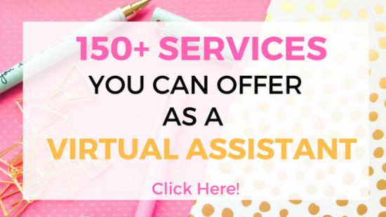 servicios de asistente virtual que puede ofrecer como asistente virtual