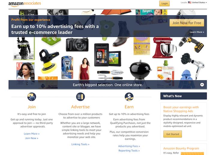 Sitio web de Amazon Associates