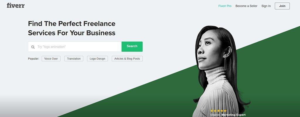 trabajos independientes sitios web- fiverr