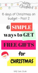 ¿Desea obtener regalos de Navidad GRATUITOS personalizados y atentos para sus seres queridos? Haga clic aquí para leer la lista y hacer que este presupuesto navideño sea amigable.