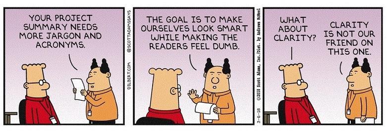 consejos de redacción resumen en una oración cómica