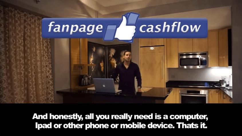 Fanpage cashflow solo una computadora