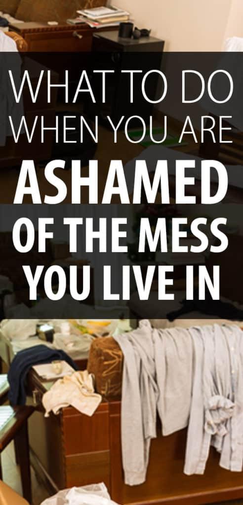 avergonzado de tu casa desordenada