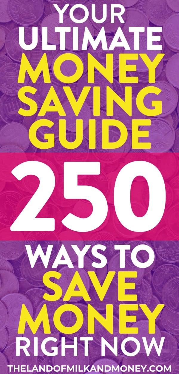 ¡Estos 250 consejos e ideas para ahorrar dinero son increíbles! Tener tantas ideas para ahorrar dinero en un solo lugar es genial. ¡Definitivamente usaré los trucos de vida frugal semanalmente y mensualmente como consejos y trucos para ahorrar dinero rápidamente en comestibles, en una casa, en comida y más! Tener tales trucos y consejos para ahorrar dinero hace que sea fácil para todos cumplir con un plan de ahorro y seguir un presupuesto, para adolescentes, de 20 años, para familias, solteros, parejas o madres. ¡Excelente para liberarse de deudas y alcanzar la paz financiera!