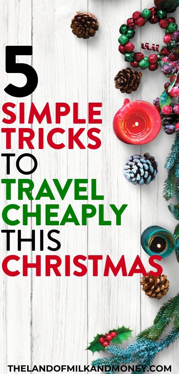 Estas ideas baratas de viajes de Navidad son excelentes consejos para ahorrar dinero durante las vacaciones. Intentar hacer la Navidad con un presupuesto limitado puede ser súper difícil, pero ver cómo hacer una Navidad frugal con cosas como esta es increíble para ayudarme a ahorrar dinero y abrazar la vida frugal, ¡incluso cuando intento llegar a los destinos de mis sueños en estas vacaciones! # Navidad # vacaciones #frugal #savemoney