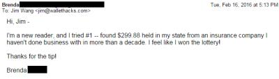 ¡Brenda encontró $ 299.88!