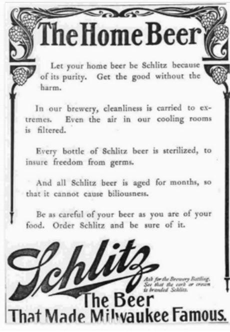 anuncio de schlitz vintage