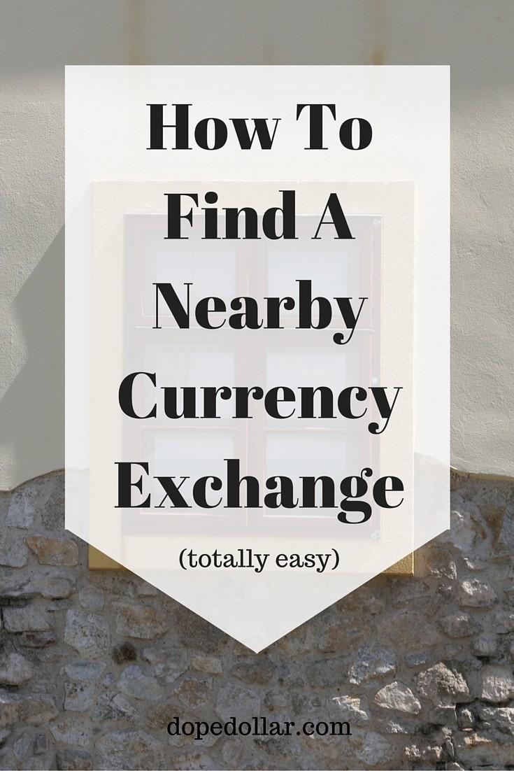 Encuentre un lugar de cambio de moneda cerca de usted.