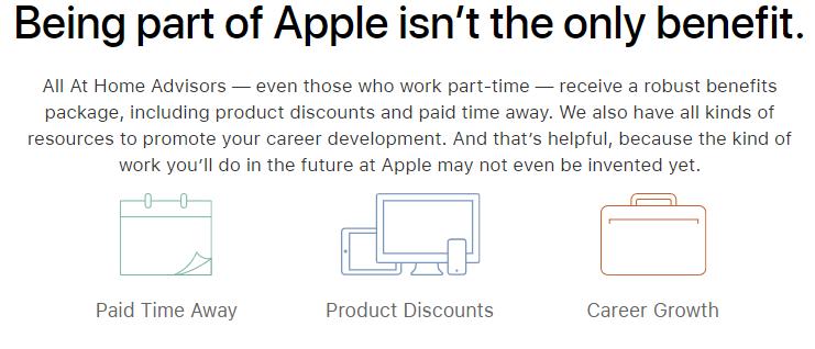 Beneficios de trabajo de Apple