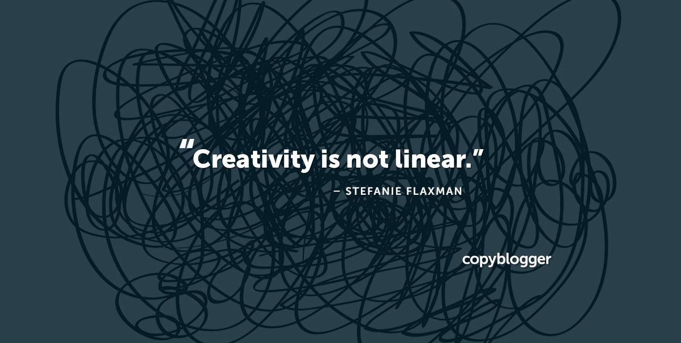 La creatividad no es lineal. Stefanie Flaxman