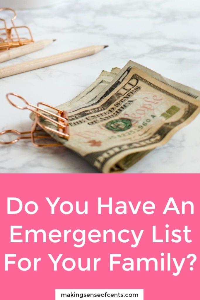 Crear un plan de respuesta de emergencia financiera para su familia