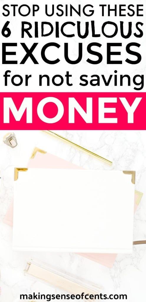 Deje de usar estas 6 excusas ridículas para no ahorrar dinero