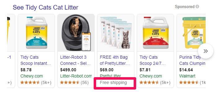Descuento de comercio electrónico Pretty Litter