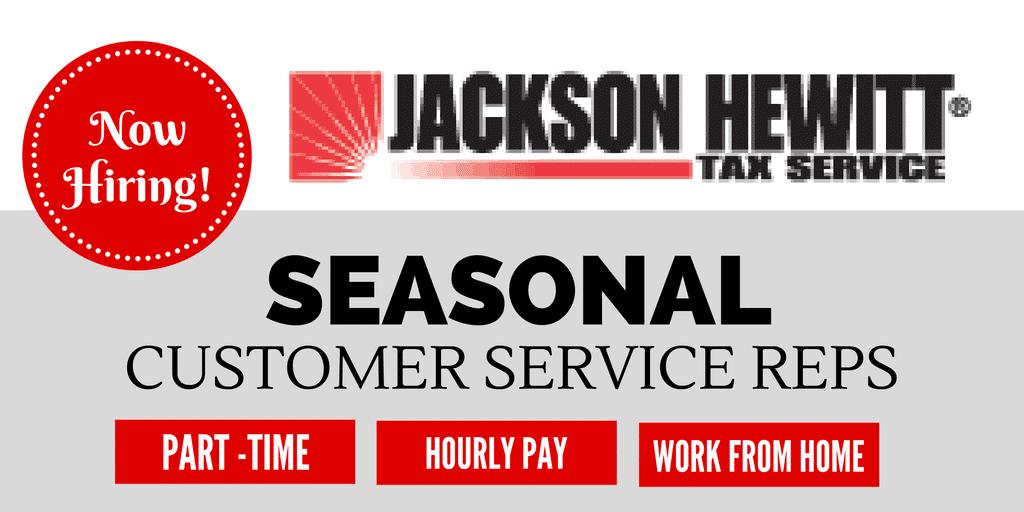 Trabajo estacional desde el hogar Servicio de atención al cliente Empleos en Jackson Hewitt