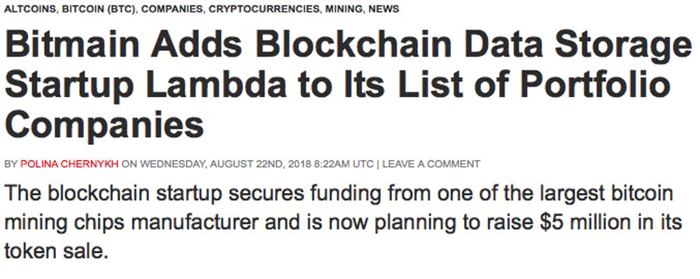 Bitmain invierte en moneda Lambda