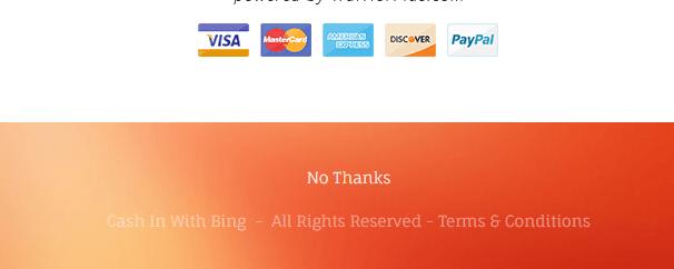 Efectivo con Bing no, gracias