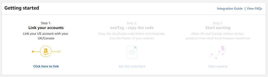Amazon OneLink paso 1