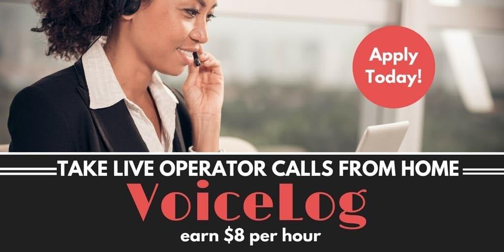 VoiceLog ofrece trabajo flexible en casa Trabajos de operador en vivo