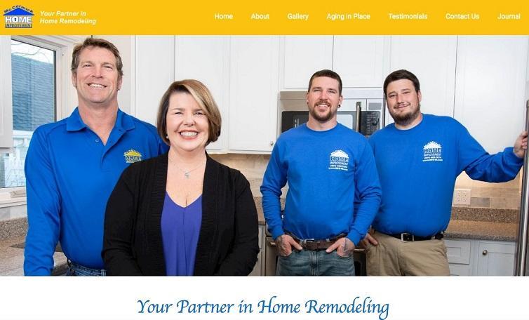 empleados en el sitio web de marketing de construcción