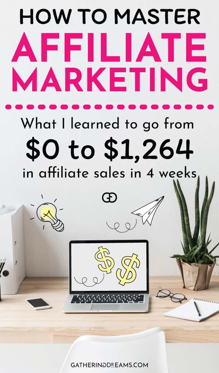 ¿Listo para ganar dinero con el marketing de afiliación? ¡Haga clic para descubrir lo que aprendí a pasar de $ 0 a $ 1,624 / mes en 4 semanas! #blogging #affiliatemarketing #makemoneyonline #makemoney