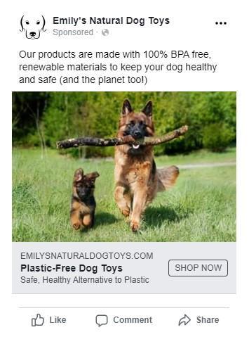 buen anuncio de Facebook