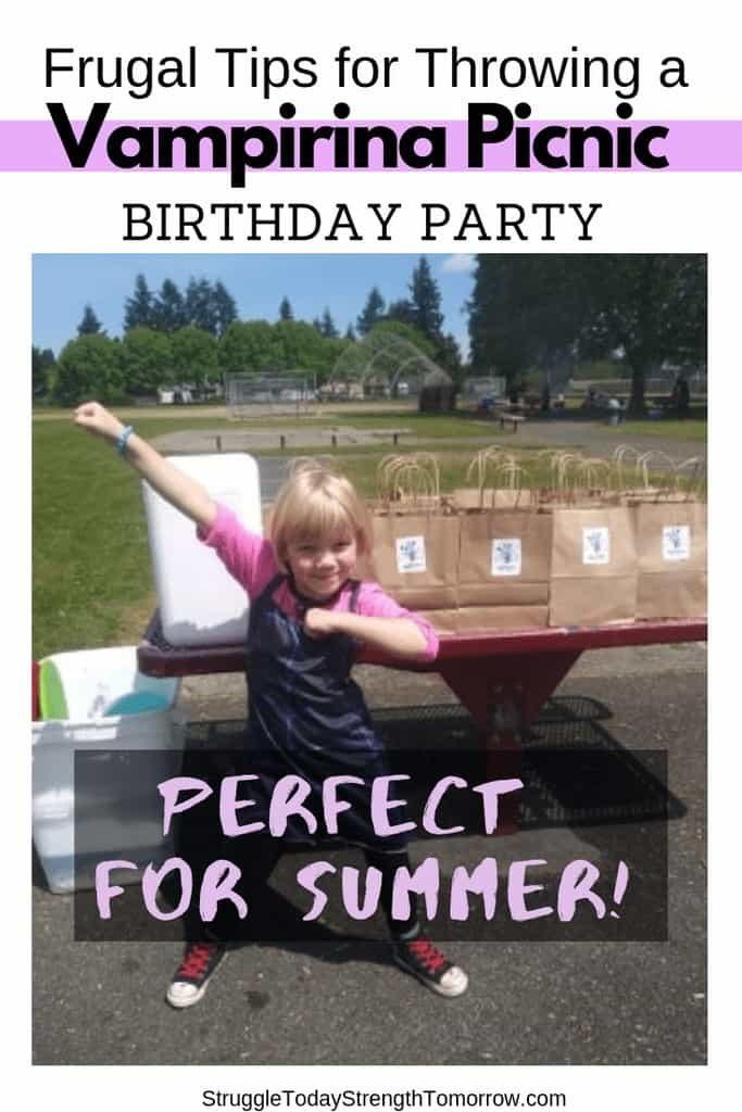 cómo hice una fiesta de cumpleaños única y frugal para mi hijo. Una fiesta de vampiros en el parque. ¡Gastamos menos de $ 75 por todo y lo pasamos genial! ¡Vea los consejos y trucos para ahorrar dinero que me ayudaron a lograr esto!