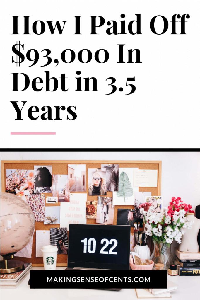 2 estrategias y 3 hábitos que me ayudaron a pagar $ 93,000 de deuda en 3.5 años #payoffdebt #debtfree