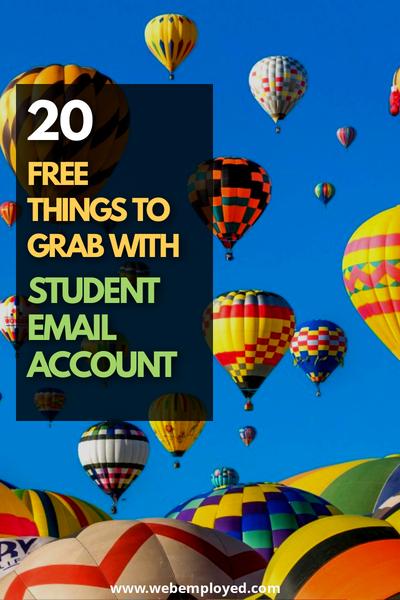 cosas gratis con cuenta de correo electrónico del estudiante