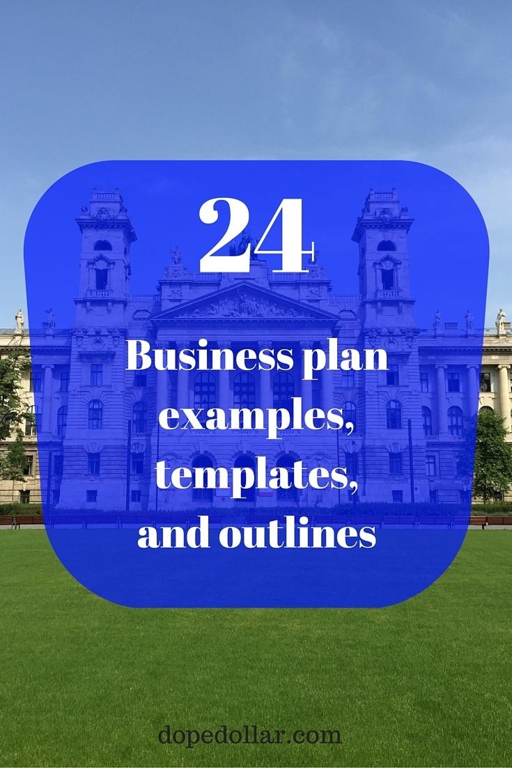 plantilla de plan de negocios, muestra y esquema