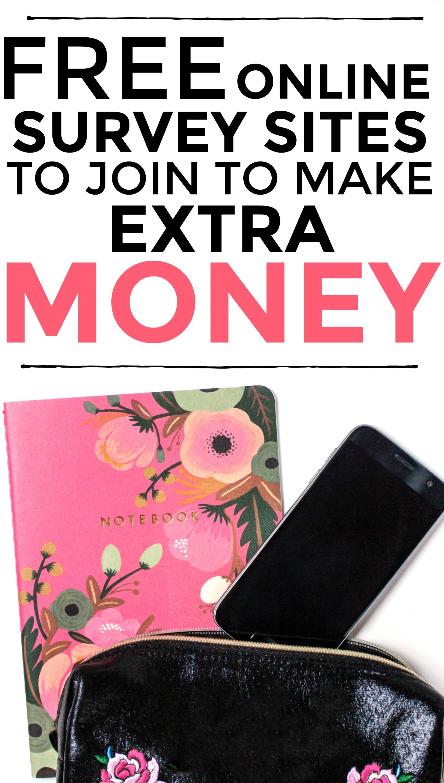 Consulte esta lista de sitios de encuestas en línea gratuitas para ganar dinero extra. #dinero extra