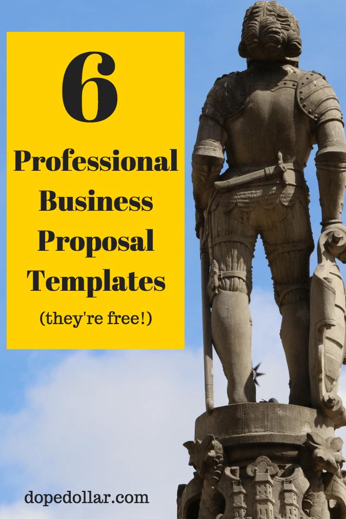 ejemplos de plantillas de propuestas de negocios