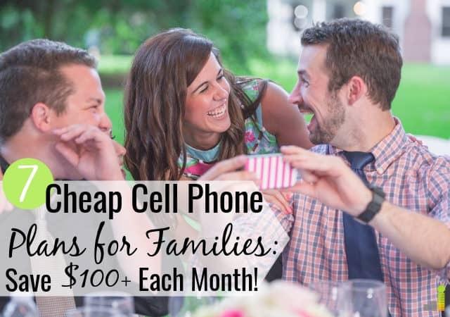 Los mejores planes de teléfonos celulares baratos para familias ahorran dinero sin contratos. Aquí hay 7 planes de calidad para teléfonos celulares de bajo costo que no sacrifican el servicio.