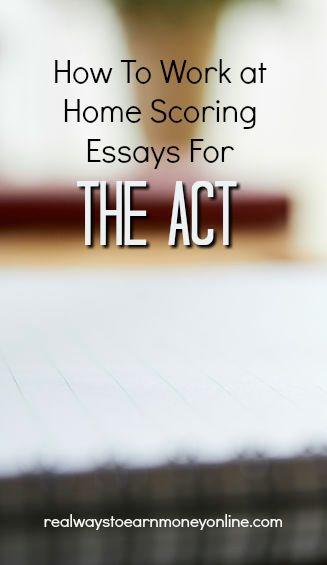 Revisión del anotador de ACT: cómo trabajar en casa ensayos de puntuación para el ACT.