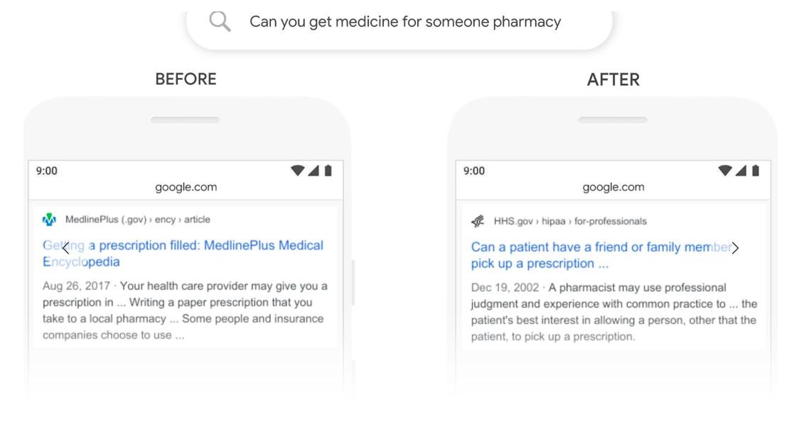 BERT Google Algorithm Update Pharmacy