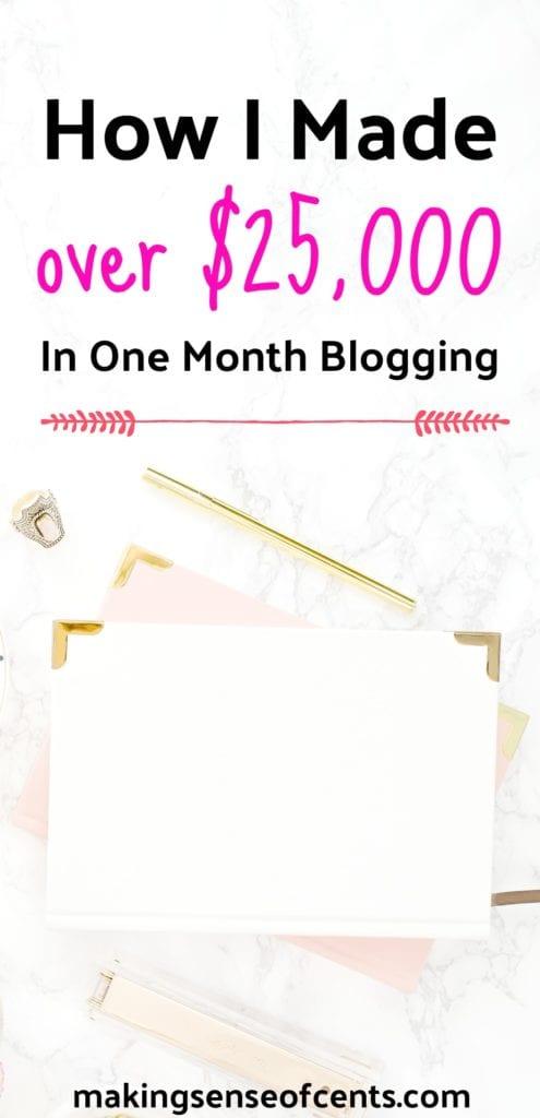 Descubra cómo gané más de $ 25,000 en un mes de blogs.