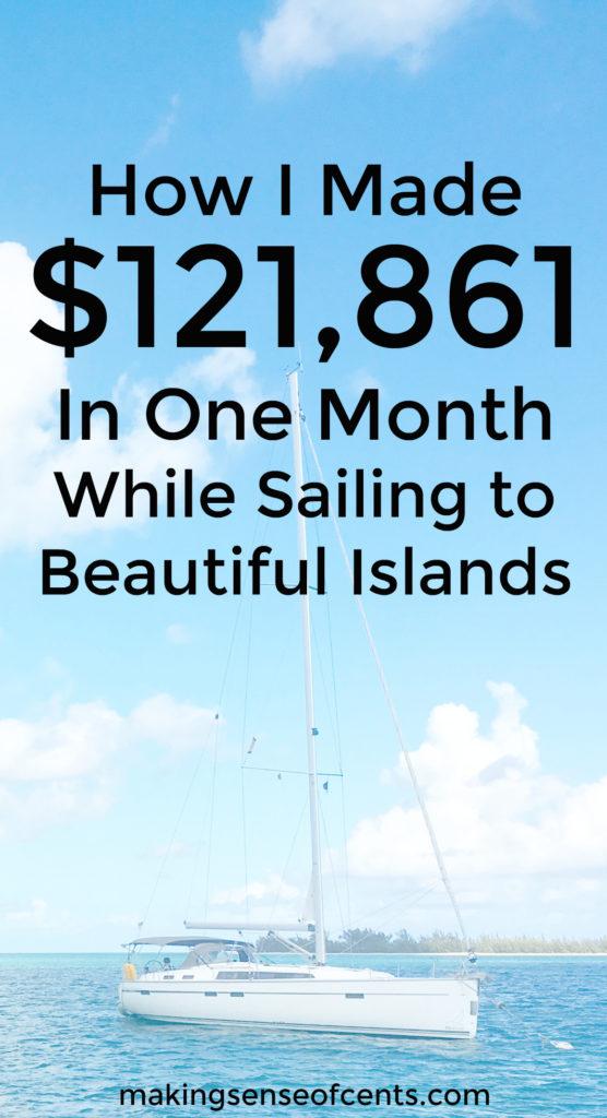 Así es como Michelle ganó más de $ 120,000 en un mes con su blog. ¡Ella hizo esto durante las vacaciones durante la mayor parte del mes también!