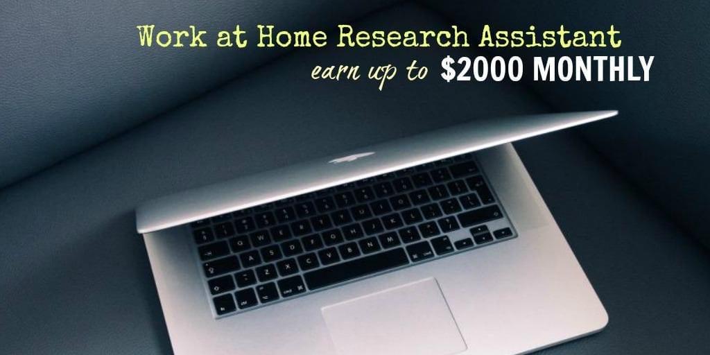Conviértase en asistente de investigación y gane hasta $ 2,000 mensuales