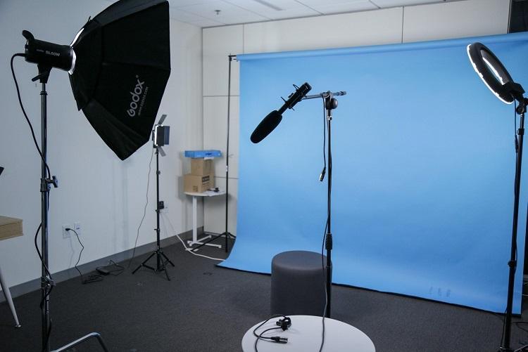 Estudio de video de WordStream configurado