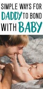 maneras para que papá se vincule con el bebé amamantado