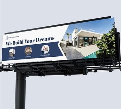 ejemplo de cartelera de marketing de construcción