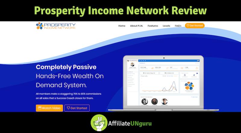 Banner de características para la revisión de la red de ingresos de prosperidad
