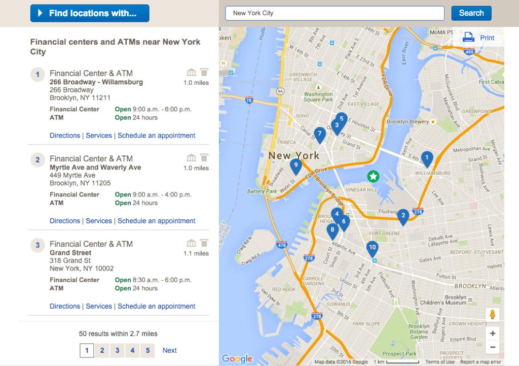 Use un localizador de Bank of America para encontrar una sucursal o un cajero automático cerca de mí