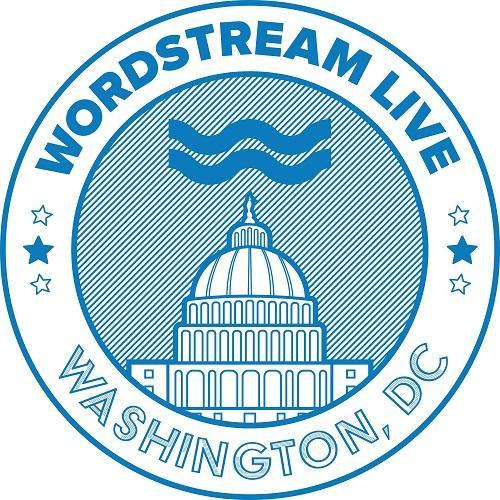 El logotipo de WordStream Live en Washington, D.C.