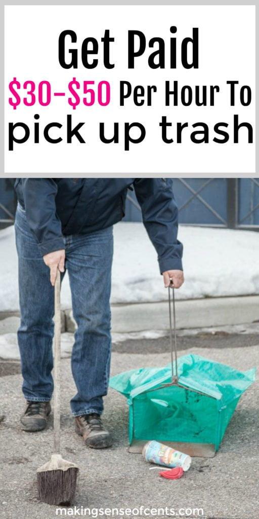 Brian se gana la vida (es un negocio de más de $ 650,000 por año para él) recogiendo basura. Él sabe de personas que ganan entre $ 20,000 y $ 40,000 adicionales al año, simplemente limpiando la basura.
