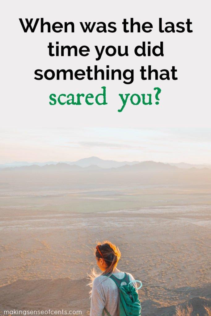Asustarse es algo bueno, significa que se está esforzando para hacer algo nuevo y fuera de su zona de confort. Esto puede ayudarlo a crecer como persona y continuar mejorando. #scareyourself #motivation #dreamlife #lifetips