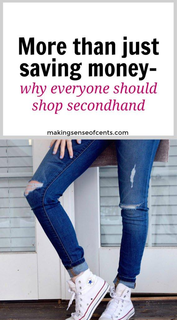 De hecho, me han dicho que no debería comprar en tiendas de segunda mano ni usar descuentos (como cupones), porque son solo para