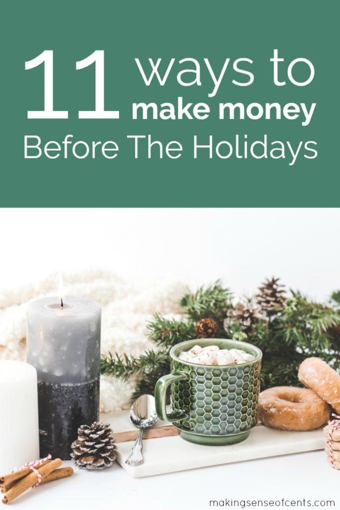 ¿Estás buscando maneras de ganar dinero extra para Navidad y las muchas otras maravillosas vacaciones de la temporada? Encuentre formas de ganar dinero en efectivo para las fiestas navideñas aquí. #holidaycash #waystomakemoney #waystomakeextramoneyforchristmas # días festivos