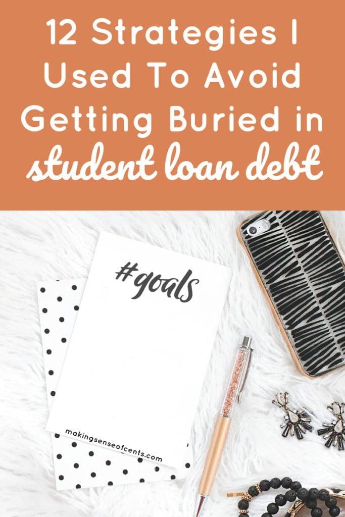 12 estrategias que utilicé para evitar que me entierren en la deuda de préstamos estudiantiles #payoffstudentloans #studentloans #debtfreejourney #moneysavingtips