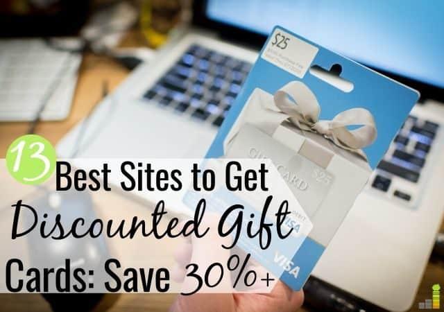 Puede comprar tarjetas de regalo con descuento en línea para ahorrar en las necesidades de compra. Estos son los 13 mejores lugares para obtener tarjetas de regalo con descuento en 2018 para ahorrar dinero.