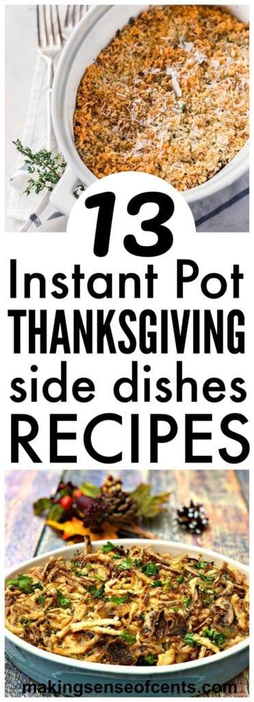 10 platos laterales de Acción de Gracias de Instantpot #instapot #thanksgiving